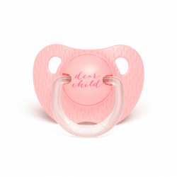 Tétine silicone 6/18 mois pink child