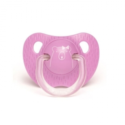 Tétine silicone +18 mois purple bear