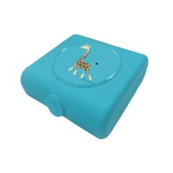 Boite à tartine bleu girafe