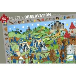 Puzzle observation chevaliers 54 pièces