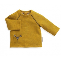 Sweat-shirt jaune Robin 23 mois