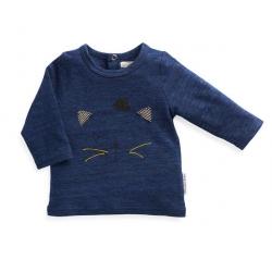 T-shirt bleu chat Rox 23 mois