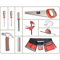 PROMO -20% red toolbox 10 pieces