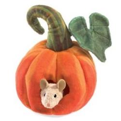 Marionnette Potiron avec souris