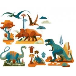 Stickers pour fenêtre - Dinosaures
