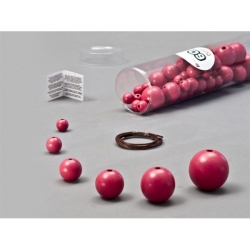 Kit perles fuschia 60 pièces