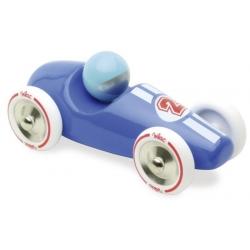 Voiture de course bleue