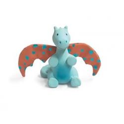 Hochet dragon bleu clair