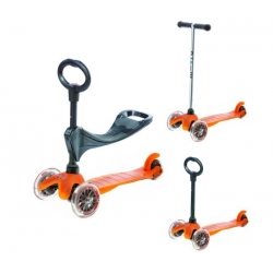 Trottinette Micro 3 en 1 deluxe push Orange