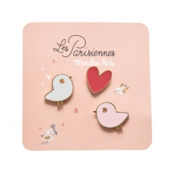 Les Parisiennes - Pin's oiseaux