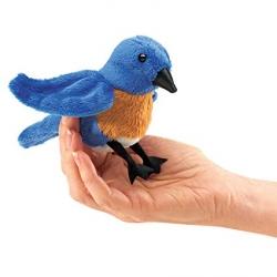 Marionnette à doigt merle bleu