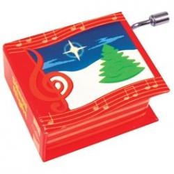 Boîte à musique manivelle - Noël