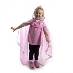Déguisement cape princesse rose