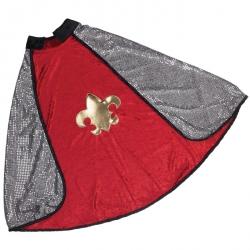 Déguisement Cape Chevalier réversible rouge