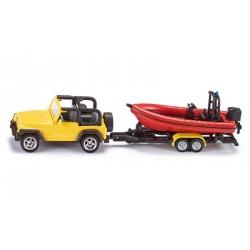 Siku O Jeep avec bateau