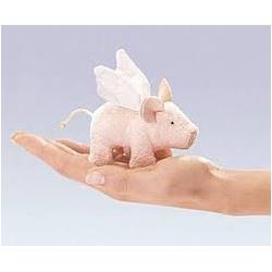 Marionnette à doigt cochon avec ailes
