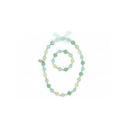 Collier et bracelet Carina vert