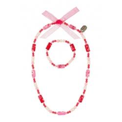 Collier et bracelet Tessy rose