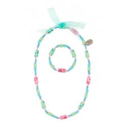 Collier et bracelet Tessy bleu