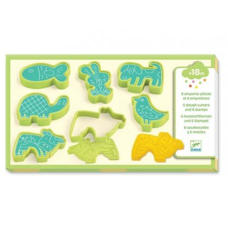 Pâte à modeler - 6 emporte-pièces et 6 empreintes d'animaux domestiques