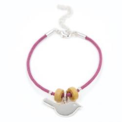 Bracelet Oiseau Rose