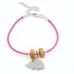 Bracelet Hérisson rose