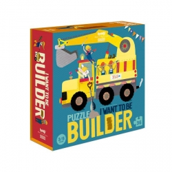 Puzzle I want to be Builder 36 pièces