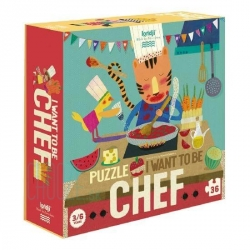 Puzzle I want to be  Chef 36 pièces