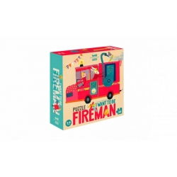 Puzzle I want to be Fireman 36 pièces