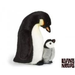 Peluche pingouin avec bébé