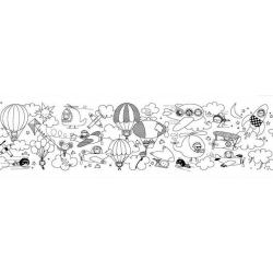 Rouleau de papier adhésif à colorier - Globe trotteur