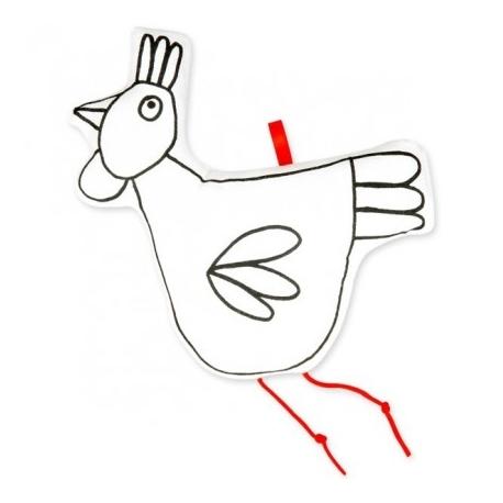 Poule à colorier