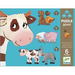 Puzzle géant 9-12-15 pièces - Pâquerette & ses amis