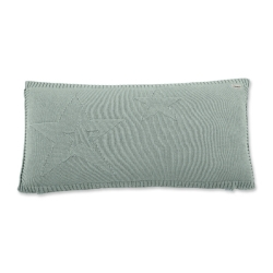 Coussin en tricot vert