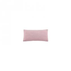 Coussin en tricot rose