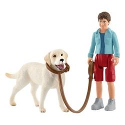 Promenade avec Labrador Retriever