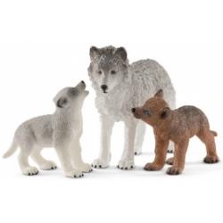 Maman louve et louveteau