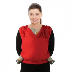 Écharpe tricot slen cool rouge