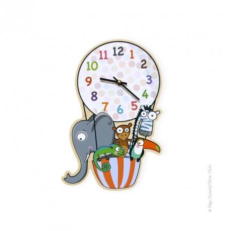 Horloge voyage en ballon