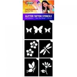 SOLDES -50% Glimmer stencils fleurs