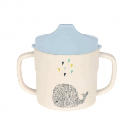 Tasse d'apprentissage en bambou Little baleine