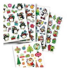 SOLDES 1+1 gratuit Stickers Noël paillettes