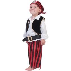 Déguisement pirate rouge et noir