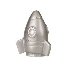 Lampe fusée argentée