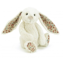 Bashful - Lapin blanc fleuri 31 cm