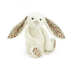Bashful - Lapin blanc fleuri 18 cm