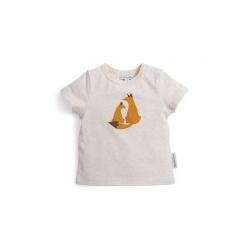 T-shirt crème imprimé renard Zoom 18 mois