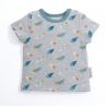 T-shirt gris imprimé plumes Zolan 18 mois