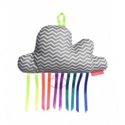 Boîte à musique nuage - Taupy gris