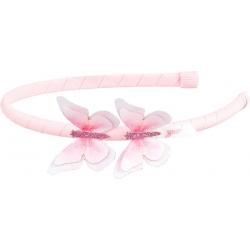 Serre-tête papillon rose Yune